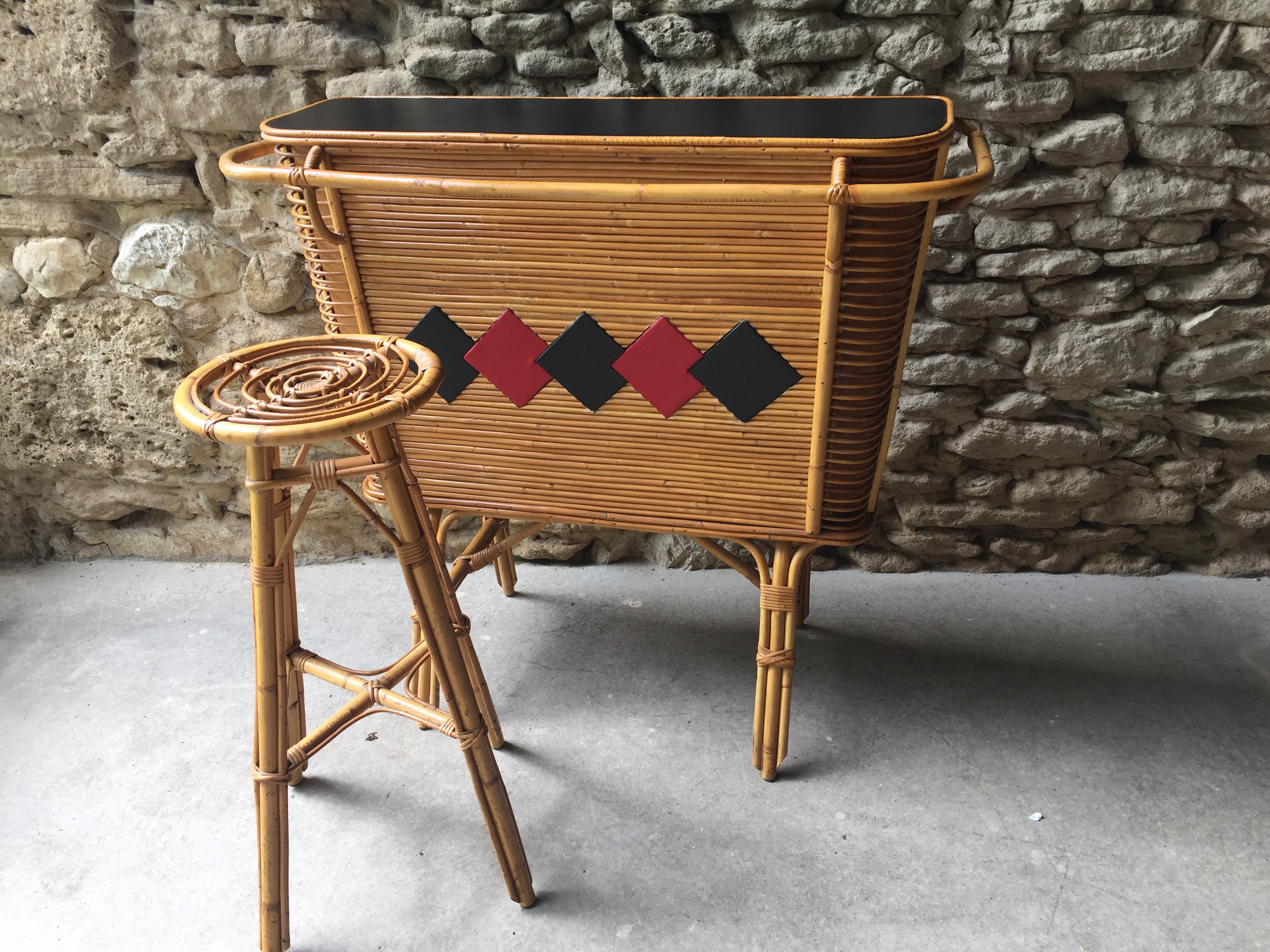 Bar Rotin Ann 233 E 60 Couleur Brocante