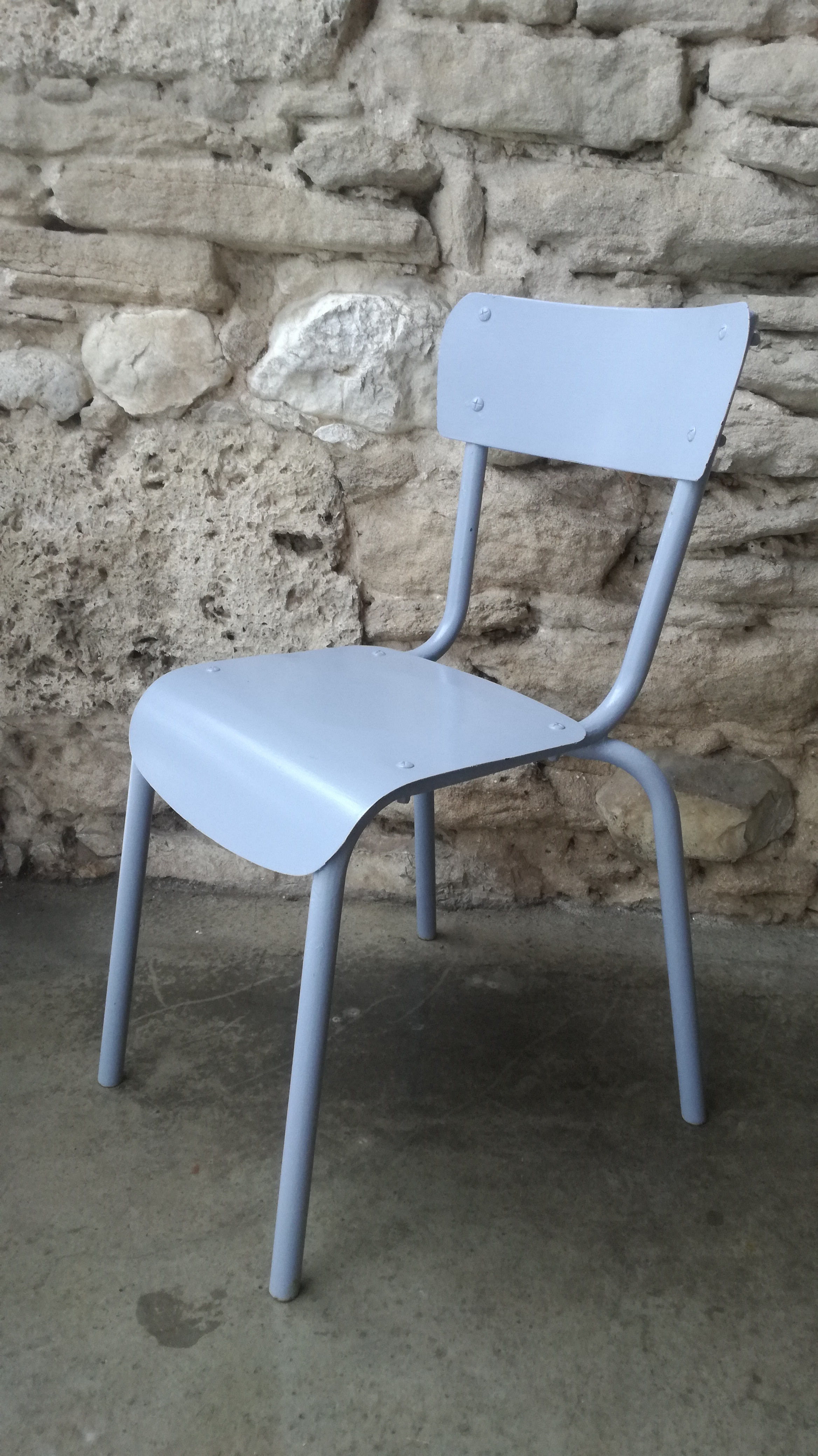 Chaise m tallique industriel atelier ann es 50 couleur for Chaise 50 euros
